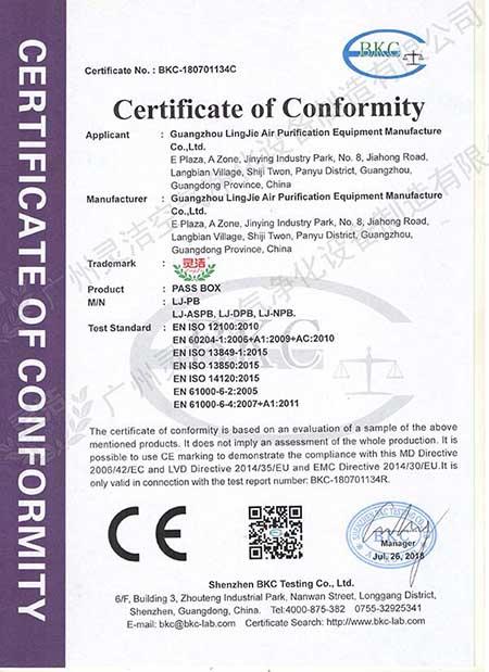 传递窗 CE认证