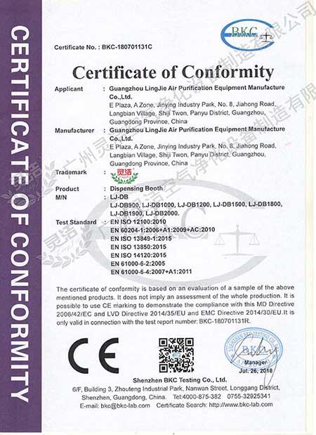 称量罩CE认证