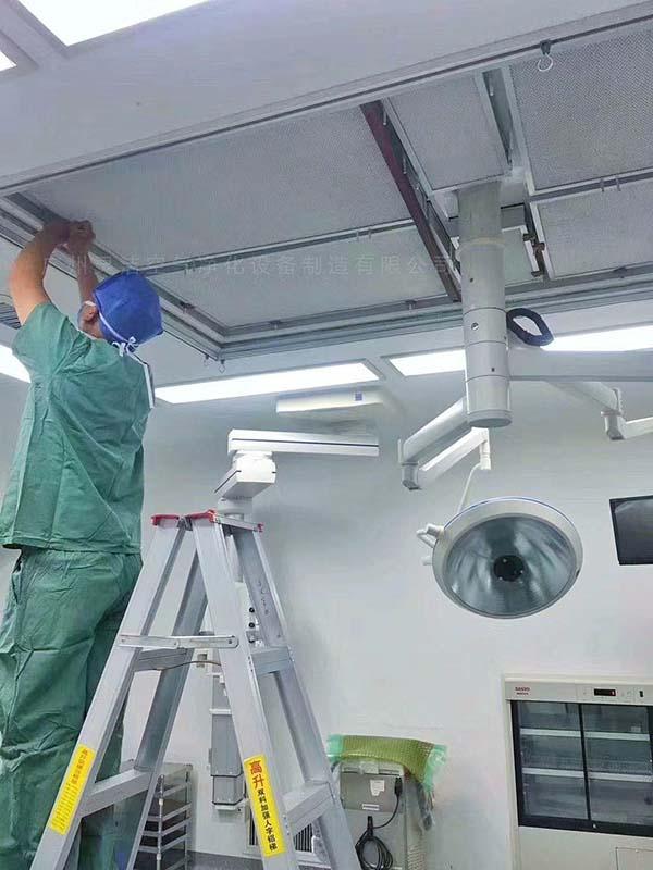 送风天花高效过滤器更换维护