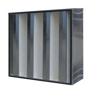 锌框W型V型组合式高效过滤器